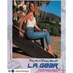 Vtg 90s LA GEAR High-Rise Medium Wash Mom Jeans 27
